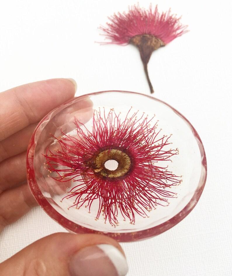 Trinket Bowl Red Gum Blossom  \u2022 Australian native jewellery dish earring bowl resin jewellery holder ring dish resin bowl handmade