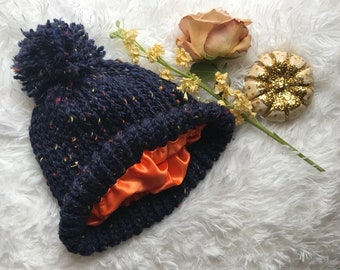 504d6b122c3 Satin-Lined Knitted Hat