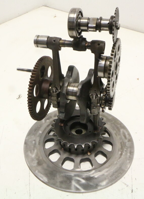 The Mill; Kinetic Mechanical Sculpture Harley Davidson & Honda / Car on