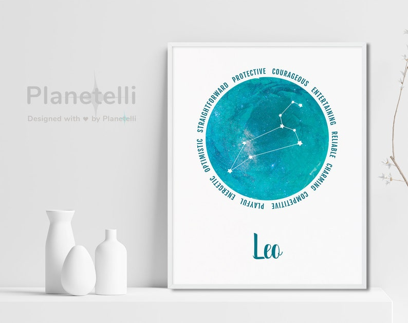 Leo Zodiac Constellation Birthday Gift, It's a Leo Thing Poster Instant  DIGITAL Download, Gift for Him/Her, Watercolor Astronomy Zodiac Sign