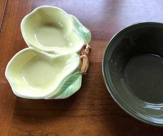 "Belmar California Pottery Yellow Leaf 6/"" Side Dish Ashtray FREE US Shipping"