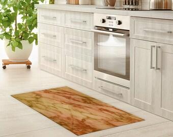 Fußboden Küche Linoleum ~ Vinyl boden matte linoleum teppich marmor vinyl küche teppich etsy