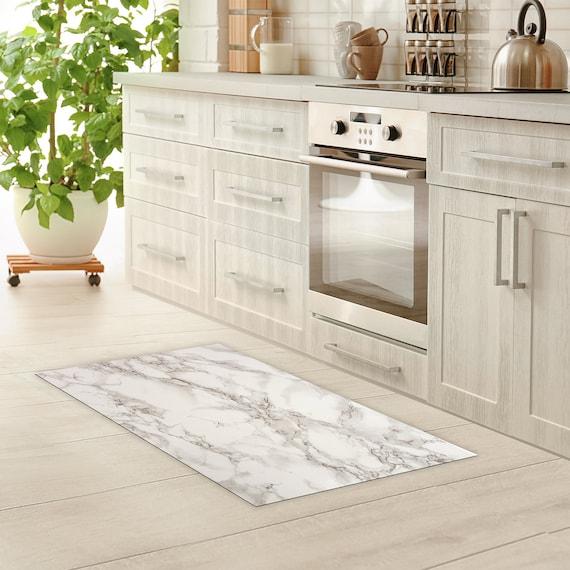 Vinyle Mat linoléum tapis vinyle marbre cuisine tapis tapis de bain  paillasson imperméable à l'eau Art tapis tapis PVC tapis de sol