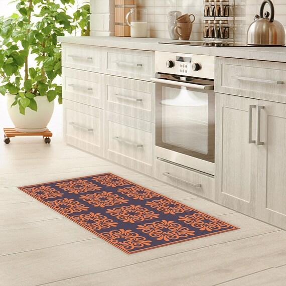 Vinyl Floor Mat Linoleum Rug Pattern Tiles Vintage Vinyl Kitchen Rug Bath Mat Waterproof Doormat Art Mat Area Rug Pvc Carpet