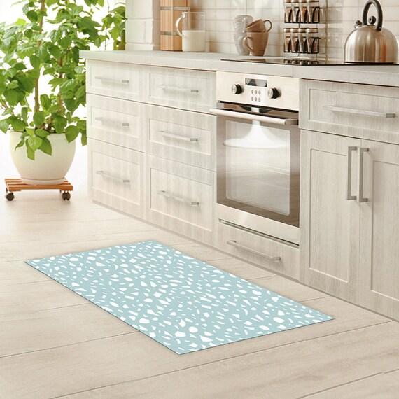 Vinyl Floor Mat Linoleum Rug Terrazzo Seamless Vinyl Kitchen Rug Bath Mat Waterproof Doormat Art Mat Area Rug Pvc Carpet
