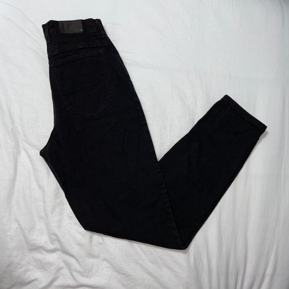 Vintage Lee high waisted mom jeans black jeans den