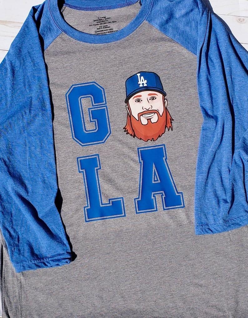 new styles c4eb5 c631b Justin Turner shirt, Dodger Shirt, Go LA shirt