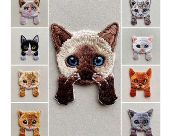 patch CAT cats 1A-Quality Ironing Patch Sew Iron On | Sewing| Embroidery clothing embroidered applique | DIY cute cat small patch