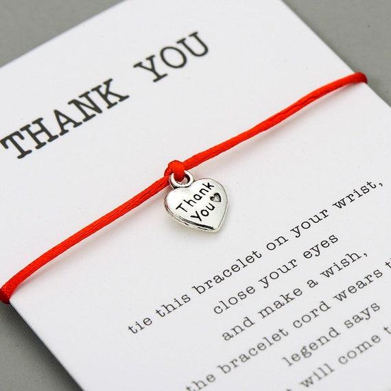1 Thank You Heart Wish bracelet