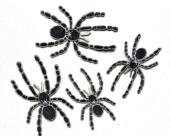 patch SPIDER tarantula black Embroidery 1A-Quality Ironing Patch Sew it Iron On | Sewing | Embroidery clothing applique | Diy