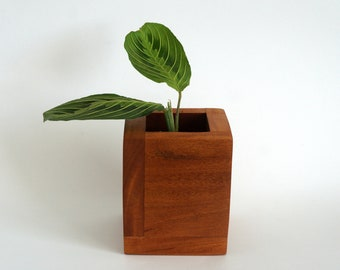 Mahogany Box, Modern, Wood, Plant Stand, Plant Pot, Plants, Modern House  Decor, Home Decor, Decor, Stylish Decor