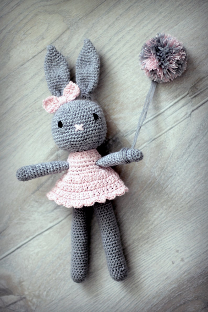 Knitted Rabbit With Amigurumi Crochet Cats (The Knitting Network ... | 1191x794