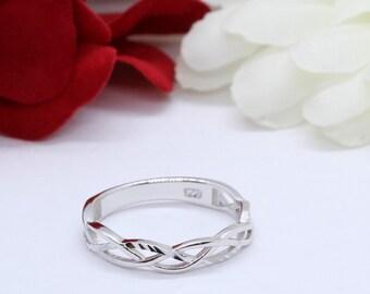 Celtic Diamond Ring Etsy