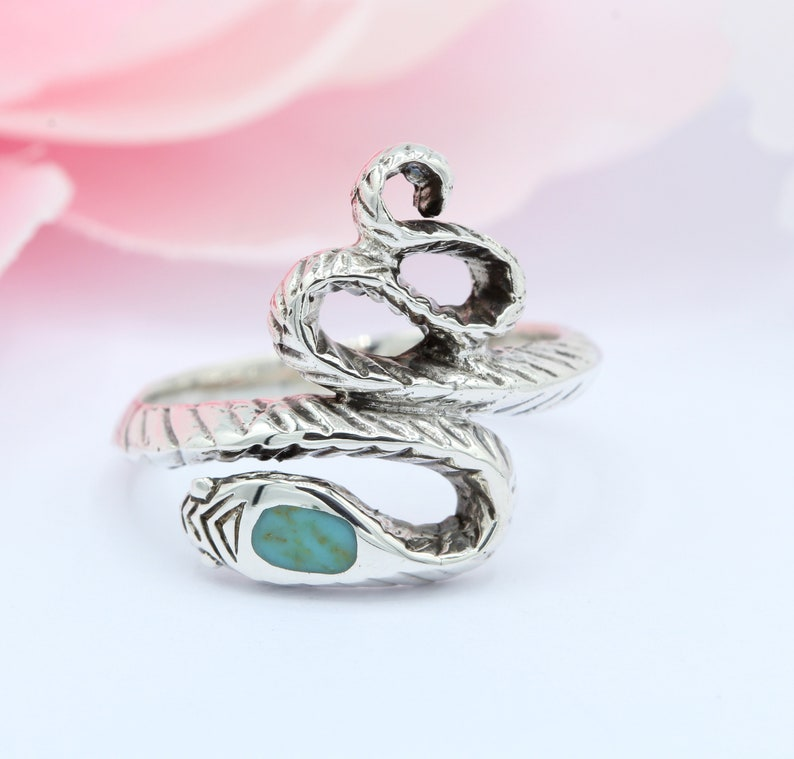 18mm Twisted Turquoise Snake Ring 925 Sterling Silver Snake Jewelry Snake Band Immortality Rose Gold Yellow Gold Snake Thumb Ring Oxidized