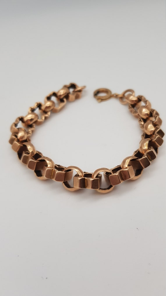 9ct Rose Gold Fancy Bracelet, Rose Gold Bracelet,