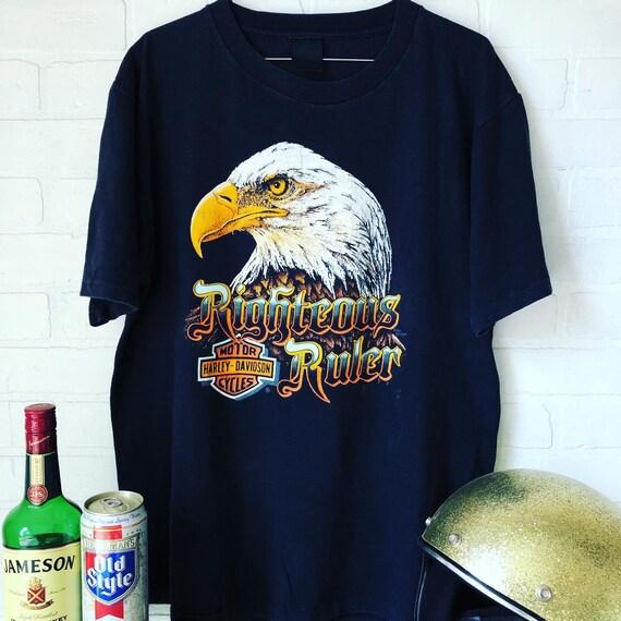 Vintage 1980's Harley Davidson 3D Emblem T-Shirt
