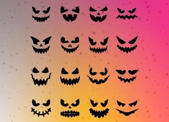 Halloween Faces Pumpkin Faces SVG