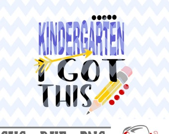 Download Free Kindergarten I got this svg first day of school svg, 1st day of school svg, svg file, t shirt mockup, kindergarten svg, cricut svg, png file PSD Template