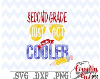 Download Free 2nd grade just got way cooler svg, school svg, 1st day of school svg, svg file, t shirt mockup, second grade svg, cricut svg, png file PSD Template
