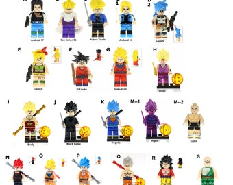 Dragon Minifigures Z Comic Movie Show Version Animated Vegetta And Many More Choose 1 3 5 Or Birthday Gift Present
