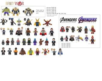 Avengers Infinity Minifigures War Marvel Ironman Spiderman