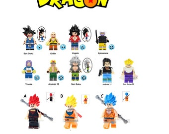 Dragon Minifigures Z Comic Movie Show Version Goku Ball Animated Gohan Vegetta And Many More Choose 1 3 5 Or Birthday Gift Present