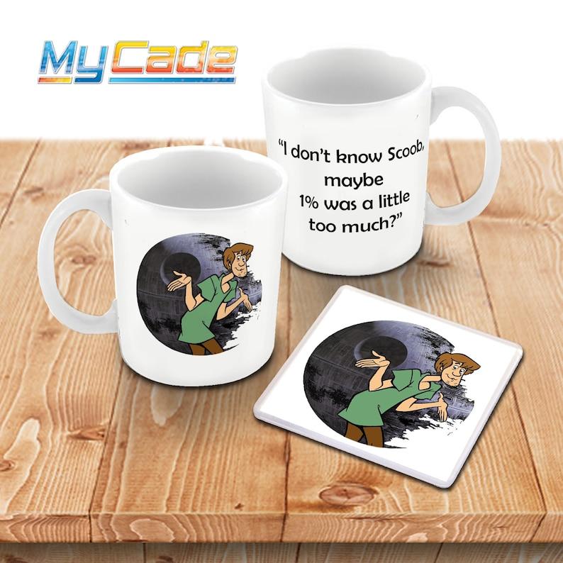 Trend And Set Cup Star Doo Shaggy Scooby Mug X Wars Meme Coaster Starwars Coffee Internet NPvy80Omwn