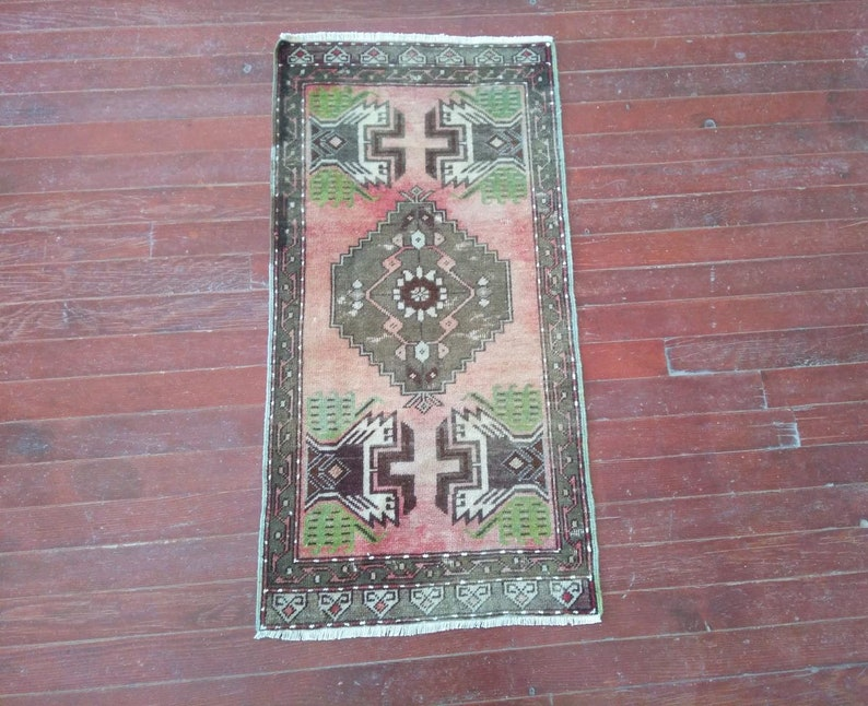 SMALL Vintage Rugs Turkish Rugs ABOUT 1/'5 x 3 ft