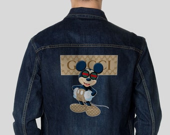 71bd64742f7 Gucci Designer Jean Coat Retro Gift Biker Jacket Mickey Mouse Jacket With  Print Vintage 90s Clothing Disney Men s Outwear Denim Coat EA0098