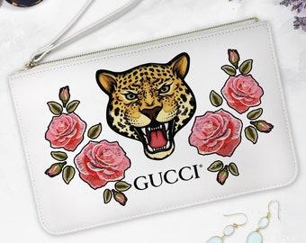 25f6dfefbdd7ca New Gucci Boutique Accessory Bag Gucci Vintage Pouch Gucci Gift For  Girlfriend Tiger Pouch Handbag Gucci Cosmetic Bag Gucci Styled EA0239