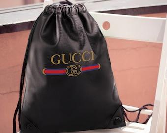 64913143b71b47 Gucci Vintage Crossbody Bag Handbags Travel Bag Leather Gucci Backpack  Unisex Shoulder Gucci Rucksack Waterproof Backpack MS0184