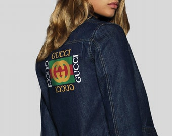 9934e5ae Gucci Vintage Denim Jacket All Sizes Blue Denim Jacket Retro Vintage  Clothing Jean Jacket Gucci Logo Oversized Denim Coat Gucci Brand MS0135