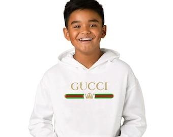 13cd026ecf5 Gucci Unisex Kids Hoodie Gucci Vintage Logo Inspired Gucci Sweatshirt Gucci  Children Designer Gucci Sweat Suit Gucci Styled Child CO1073