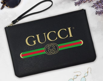 312c7765c0a3 Gucci Pouch Boutique Accessory Bag Gucci Zipper Pouch Handbag Saffiano  Leather Pouch Gucci Styled Bag Gift For Her Gucci Cosmetic Bag EA0178