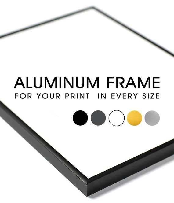 Gold Aluminum Frame for Poster,Color Size:A4 A3 A2 A1 50x70 24x36 70x100