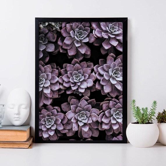SUCCULENT PRINT Summer Poster Plant Wall Art Tropical Home Decor A3//A4 FRAMES