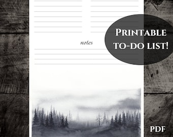 printable to do list planner insert for scheduling printable stationery planner pages a4 a5 pdf instant download