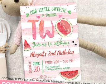 watermelon invites etsy