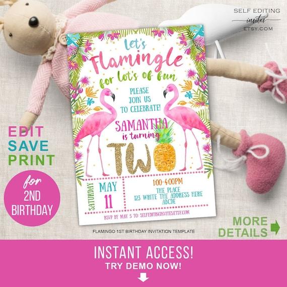 second birthday tropical flamingo birthday flamingo party