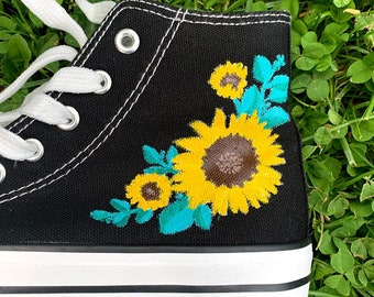 Sunflower converse   Etsy
