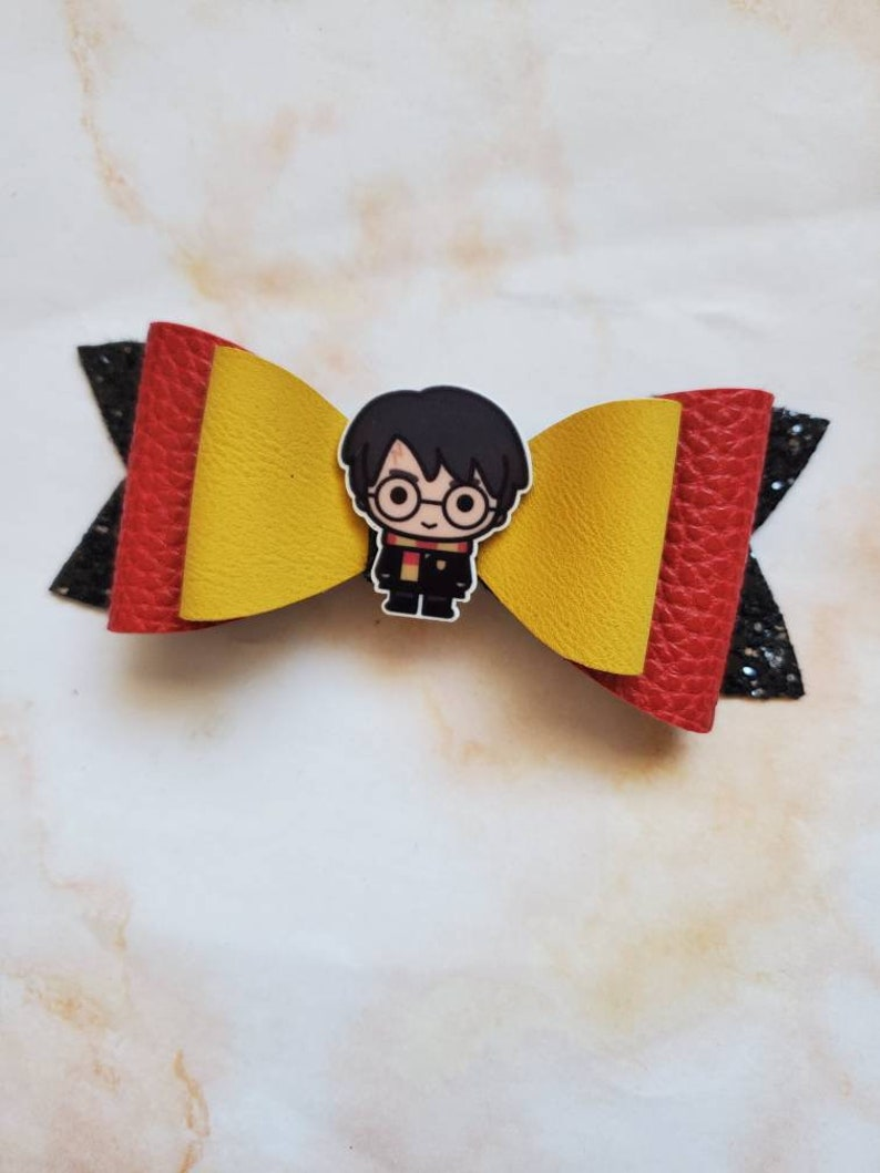 Harry Potter inspired bow harry potter characters faux leather bow