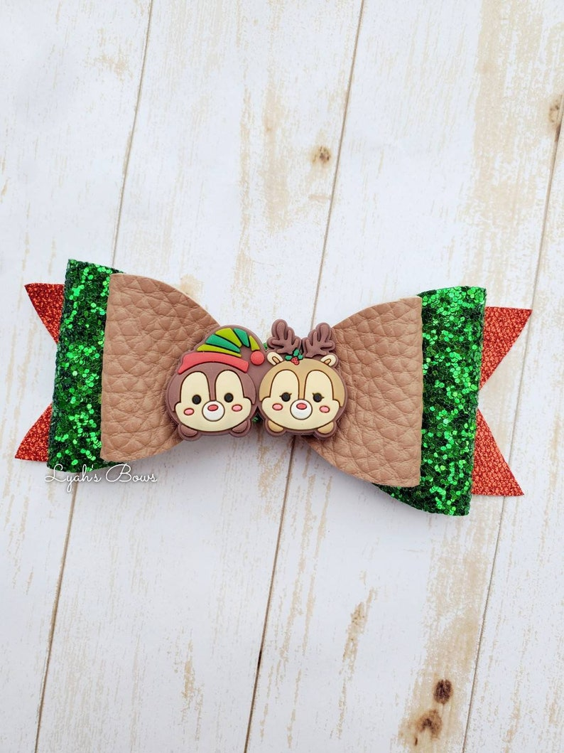 Christmas bows disney inspired christmas bows faux leather christmas bows