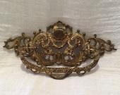 Vintage Brass Drawer Pull, Very Ornate