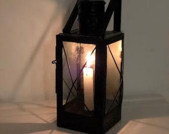 Firetruck Railway Train Light Lamp   Vintage Hurricane Lantern Candle Holder with Vintage Candles