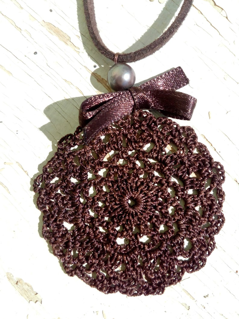 Handmade necklace Beaded jewelry Luxury jewel Lace jewelry Crochet necklace Handcrafted jewelry for women
