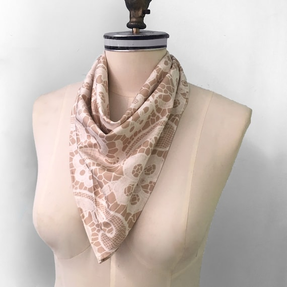 and Neck Tie. Neck Kerchief White and Pink Striped Seersucker Cotton  Neck Scarf Head Scarf Handmade Bandana Also functions as an Ascot
