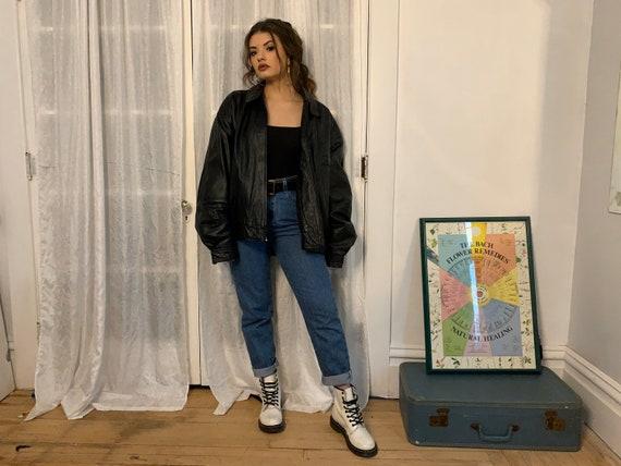 1980s Black Leather Jacket - image 3
