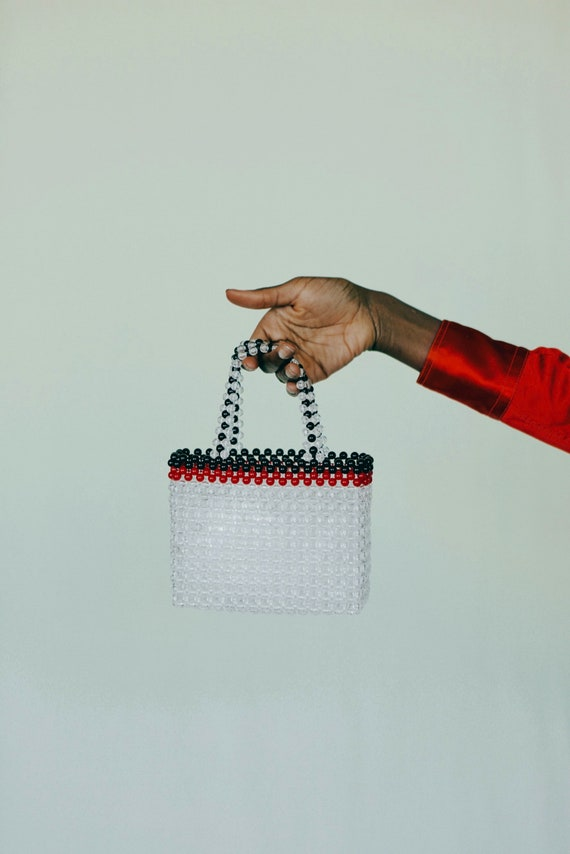Transparent Tote Beaded Bag