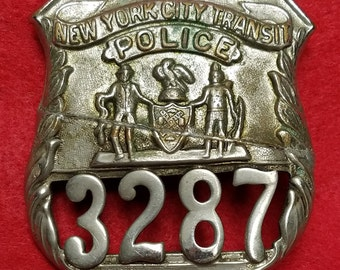 3b4cf74993b Obsolete Vintage Defunct New York City Transit Police Department Badge  Repaired