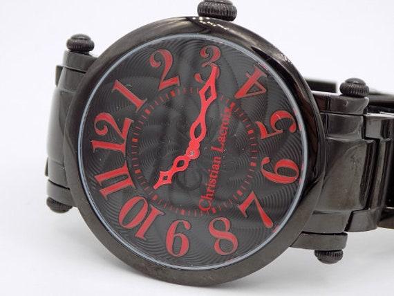 Armband Christian NummeriertTitan Sehen Made Sie LacroixHerrliche Uhr FrauMannModeKollektionSwiss Und Schwarze kZuPXTOi